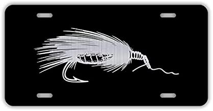 Decals, Home Décor, & More Fly Fishing Etched Aluminum License Plate   6-Inches by 12-Inches   Car Truck RV Trailer Wall Shop Man Cave   VLP765