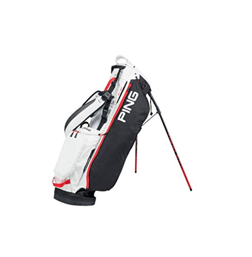 PING 2020 Hoofer Lite Golf Stand Bag Black White Scalet with Free Priority Mail