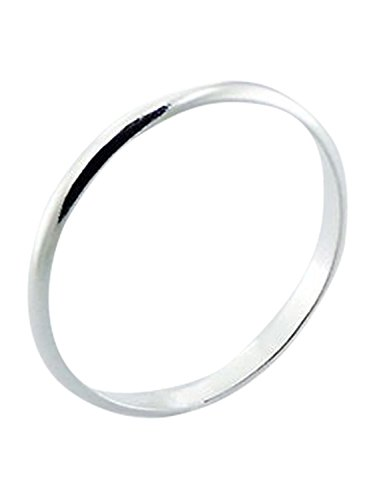 Sterling Silver Ring 2mm Band In Sizes G,H,I,J,K,L,M,N,O,P,Q,R,S,T,U,V,W,X,Y,Z (O)
