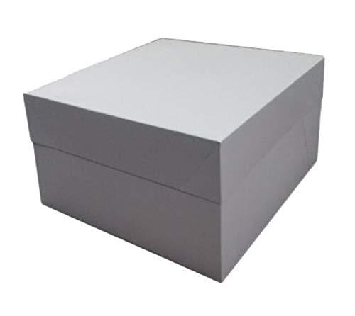 Decoraciondulce - 25 x Caja Blanca para Transportar Tartas (25.4 X 25.4 X 15.2 CM)