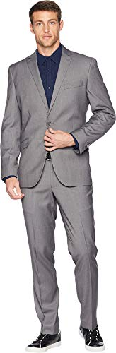 Unlisted by Kenneth Cole mens 2 Button Slim Fit With Hemmed Business Suit Pants Set, Medium Grey, 36 Short US