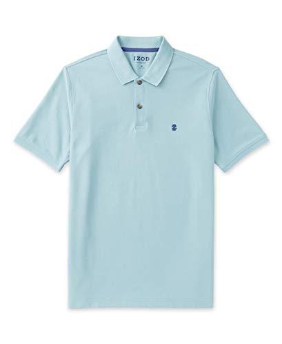 IZOD Men's Advantage Performance Short Sleeve Solid Polo, Blue Radiance, X-Large