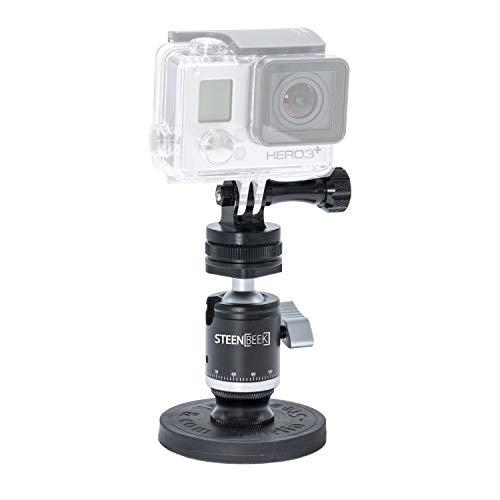Supporto magnetico per action cam come GoPro Insta360 DJI Osmo Action con filettatura fotografica da 1/4', mini testa a sfera in alluminio, compatibile con GoPro