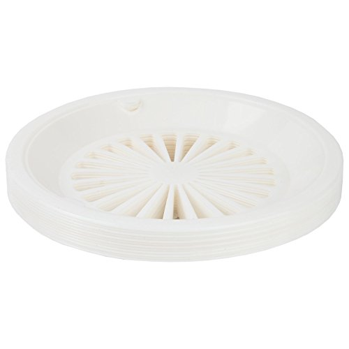 Trenton Gifts 10-Inch Reusable Plastic Paper Plate Holders, Picnic Supplies (12 Set - White)
