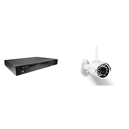 Lupus - LE 918 für 8 ONVIF kompatible IP Kameras, 4K, Deutscher Hersteller + Support, iOS+Android APP, MacOS und Win Software & Lupus – LE202 3MP WLAN IP Kamera für draußen, SD Slot, 100° Blickwinkel