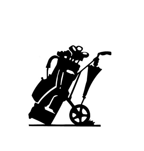 Auto autoaufkleber aufkleber 13,7 * 13,5 CM Mode Golftasche Decor Auto Modellierung Aufkleber Zubehör Silhouette Vinyl Grafik 1 Stück