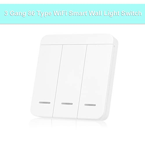 Benkeg Interruttore 1/2/3 Vie Interruttore Smart Wall Light Interruttore Wireless Nessun hub Richiede la frequenza di Ricezione Adesiva 315 MHz / 433 MHz