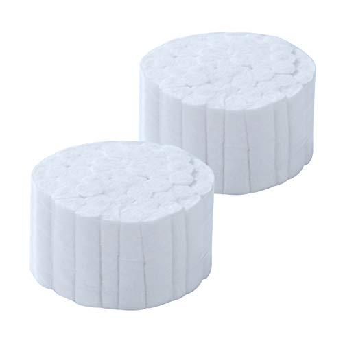 "O'lemon 100 Count Cotton Rolls #2 Medium 1.5"" Dental Gauze Cotton Rolls Non-Sterile 100% Natural Cotton High Absorbent Cotton"