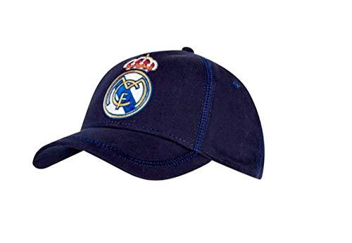 Real Madrid Gorra, Unisex niños, Azul Oscuro, Talla