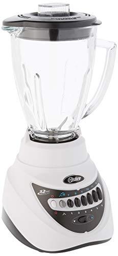 Oster BLSTEG7805W Glass Jar Blender, 220 Volts (Not for USA), 12 Speed 6-Cup, White