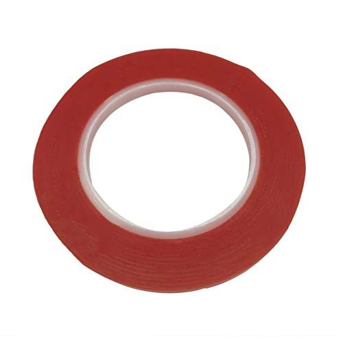 Profesional 25 Metros Impermeable Rojo Transparente Doble Cara Adhesivo Fuerte Resistencia a altas temperaturas Herramienta de reparación de cinta de 5 mm - Rojo
