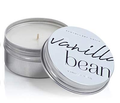 Zodax Vanilla Bean Apothecary Guild Scented Tin Candle