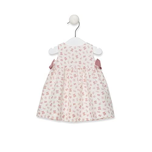 TOUS BABY - Vestido sin Mangas de Corte evasé para Niña. Estampado Pink Ositos. Color Coral (12 Meses)