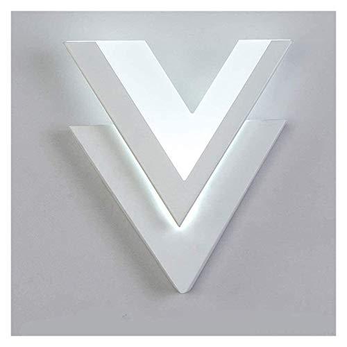 PQQ Lámpara de Pared Aplique de Pared Led Moderno 10W Luz de Pared en Forma de V de Aluminio para Dormitorio Luminaria de iluminación del hogar Luminaria de baño