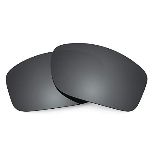 Revant Replacement Lenses Compatible With Oakley Valve, Polarized, Black Chrome MirrorShield