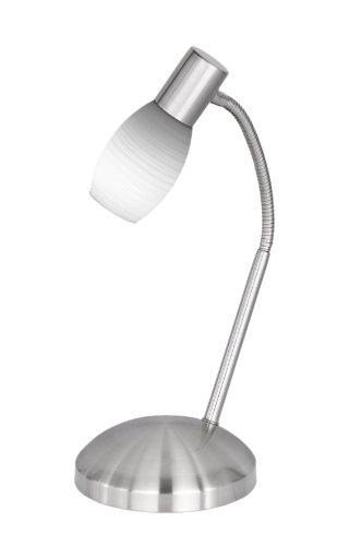 Wofi Tischleuchte, 1-flammig, Höhe 38 cm, Tiefe 22 cm, nickel-matt 823101640007