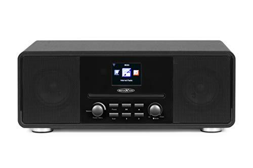 Reflexion HRA19INT DAB- und Internetradio mit CD-Player und Radiowecker (UKW, DAB, DAB+, Bluetooth, AUX-Eingang, Kopfhöreranschluss, Fernbedienung)