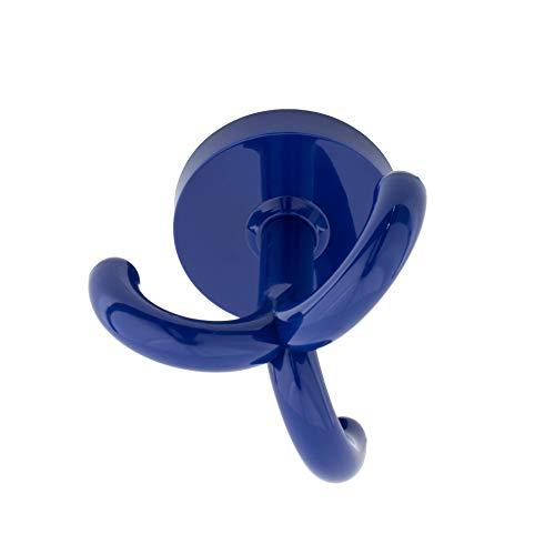 Gedotec Garderobenhaken Kinder Dreifachhaken Kunststoff RAL 5002 - ultramarin-blau | KITA | Unterbauhaken Decke mit 3-fach Aufhänger | MADE IN GERMANY | 10 Stück - Kleiderhaken drehbar zum Schrauben