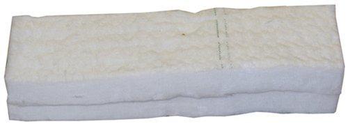 Schwamm aus Keramikwolle, für Bioethanol, zum sicheren Einsatz in Kaminen, 30cm x 10cm x 1,3cm, 2Stück