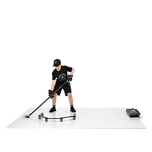 Better Hockey Extreme Super Skills Kit - Awesome Training Aid for Shooting, Passing, Puck Control and One Timers - Premium Tiles with Puck Rebounder - Versatile Stickhandling Trainer