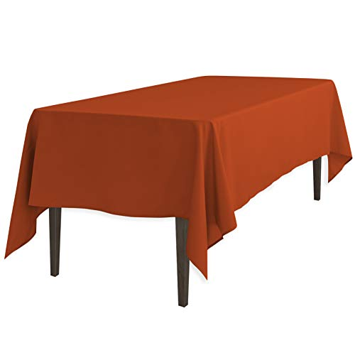 LinenTablecloth 60 x 126-Inch Rectangular Polyester Tablecloth Copper