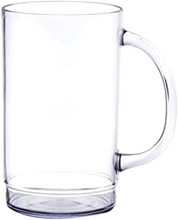 Beer Plastic Mugs by GET 20 ounce 00083 (1 Count)