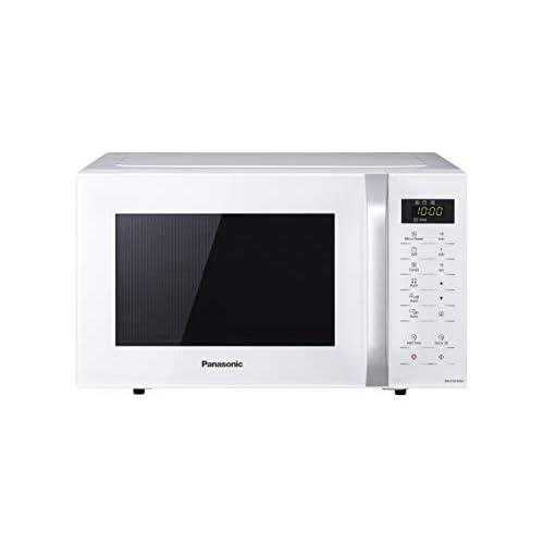 Panasonic NN-K35HWMEBG Forno a Microonde Combinato con Grill, 11 Programmi Automatici, Quick Start 30 Secondi, Sicurezza Bambini, 800 W, 23 Litri, 63 Decibel, Acciaio/plastica, 5 velocità, Bianco