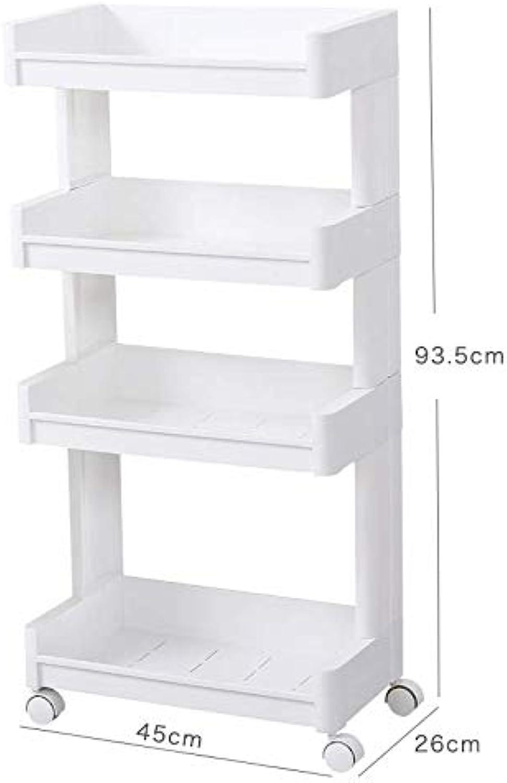 Placement Shelf Plastic Floor Bathroom Receptacle Shelf Multilayer Kitchen Storage Shelf Landed on Three Floors,D