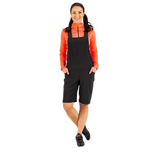 Sheest Uberall Damen Radlerhose/Trägerhose, Damen, schwarz, Medium