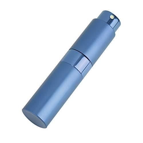 Frasco de viaje vacío con fragancia, frascos atomizadores de perfume, frasco de perfume recargable de 8 ml para viajes de negocios, viajes o uso diario para mujeres(azul)