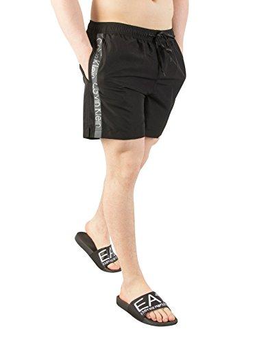 Calvin Klein Heren Zwemshort met middellange trekkoord, Zwart
