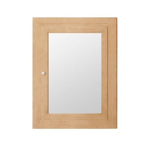 """RONBOW Frederick 24"""" x 32"""" Transitional Solid Wood Frame Bathroom Medicine Cabinet in Light Bamboo, 2 Mirrors and 2 Cabinet Shelves 618125-E71"""