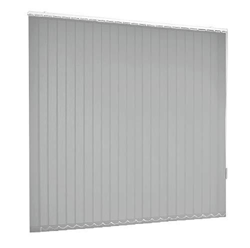 Lamellenvorhang Vertikaljalousie Grau Hellgrau Lamellen Fenster Rollo Breite 100-250 cm Höhe 150-250 cm Vorhang Flächenvorhang Schiebevorhang Streifenvorhang blickdicht halbtransparent (100 x 150 cm)