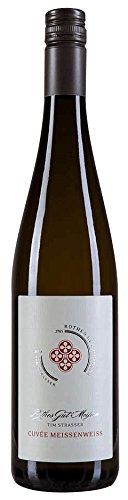 Cuvée Meissenweiss 2017 - Rothes Gut Meissen Tim Strasser   halbtrockener Weißwein   deutscher Sommerwein aus Sachsen   1 x 0,75 Liter