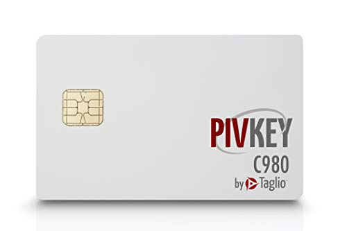 Taglio PIVKey C980 Enterprise PKI Smart Card for Authentication, Identification, Contact/Contactless Smart Card, Supports Windows PIV Drivers.
