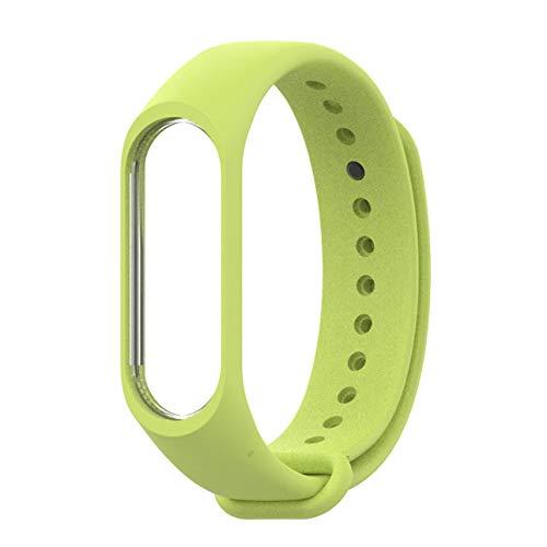 hengduolailin Correa de reloj para Mijobs Moda Correa de reloj Pulsera de silicona suave Pulsera Accesorios de repuesto para Xiaomi Mi band 3 Smart Band