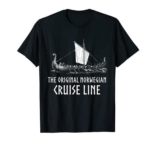 Viking Ship Cruise Line T-Shirt - Odin And Valhalla T-Shirt