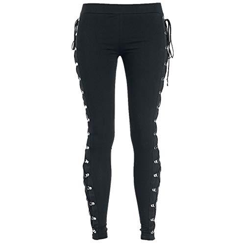 N\P Leggings ajustados y delgados, de alta elasticidad, versátiles con cordones, pantalones casuales.