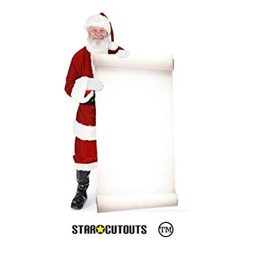 Kerstman met grote sign - Kerstmis LEVENSGROTE PAPPFIGUREN / STAALPLATZINHABER / OPLEGGER