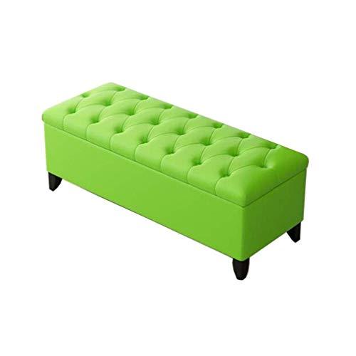 KDJB&DM Gestoffeerde poef met kunstlederen bekleding, Woonkamerbank HENGXIAO slaapbank met uiteinde van bed (kleur: groen, afmeting: 100 cm) 80cm Groen