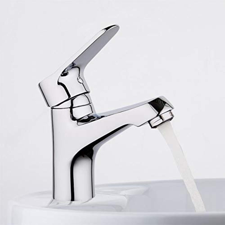 ZHFJGKR&ZL Spültischarmatur Wassermischer Waschbecken Wasserhahn Waschtischarmatur Chrom Messing Wasserhahn Waschtischarmaturen Einlochmontage Waschtischarmaturen