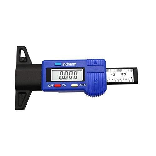 KAIBINY Vernier-Bremssattel. Digital-Reifen Profiltiefe der Reifen Tester Messgerät Meter Vermesser Werkzeug Caliper LCD Display TPMS-Reifenüberwachungs 0-25.4mm Car System (Color : Blue)
