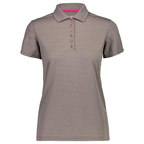 CMP 3t59676 Polo T-shirt,Femme-Gris (taupe)-46(Taille Fabricant: XXL)