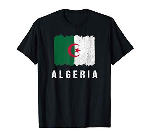 Gemalte Algerien Fahne / Algeria Flagge Fan Geschenk T-Shirt