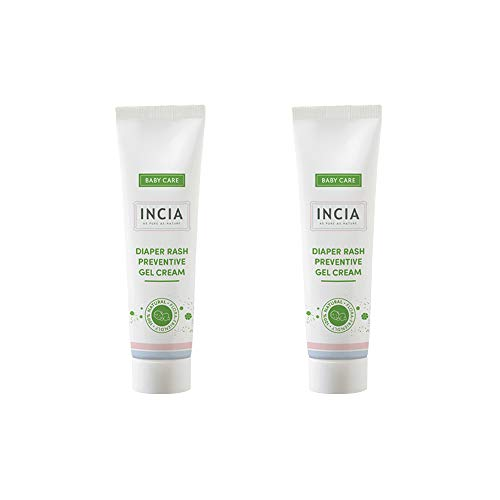 INCIA Diaper Rash Preventive Gel Cream. Rich in Coconut Oil and Buckthorn Oil to Prevent Redness and Soreness 2 x 60 ml