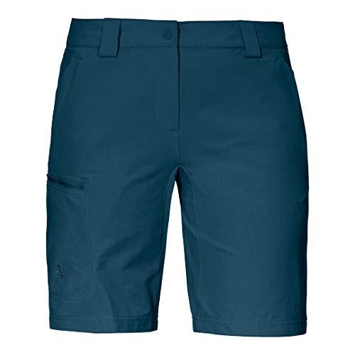 Schöffel Damen Kailuka L Bequeme und strapazierfähige Outdoor Hose, Bermuda Shorts mit 4-Wege-Stretch, Wanderhose mit praktischen Zip-Taschen, Moonlit Ocean, 38, 13025
