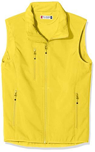CLIQUE Herren Softshell Vest Gilet Outdoor Weste, gelb, XXL