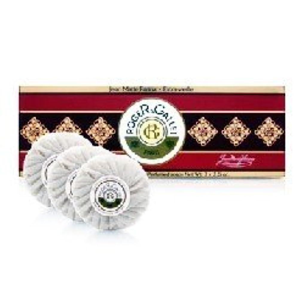 世界に死んだトリプル小包ロジェガレ ジャンマリーファリナ 香水石鹸3個セット ROGER&GALLET JEAN MARIE FARINA SOAP