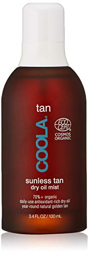 COOLA Organic Sunless Tan Body Dry Oil , Moisturizing , Antioxidant Enriched , Gradual Tan , Pina Colada