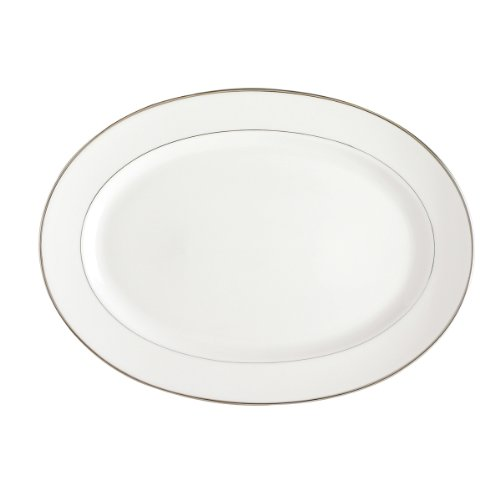 DEGRENNE Galon Platine Plat de Service Porcelaine Platine